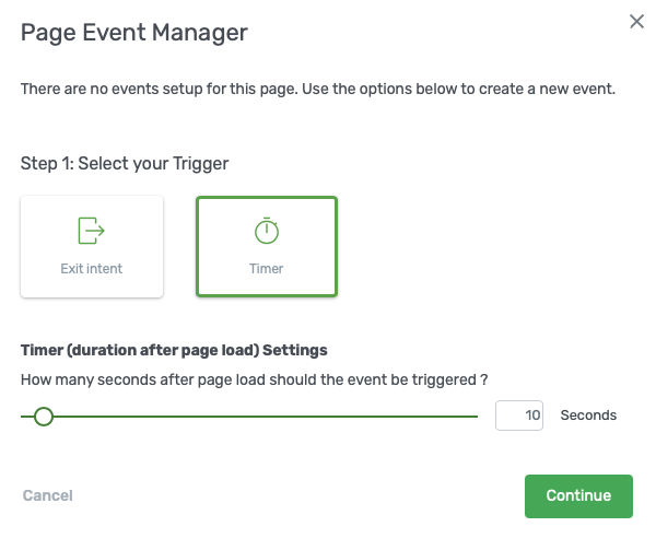 Page Event Timer