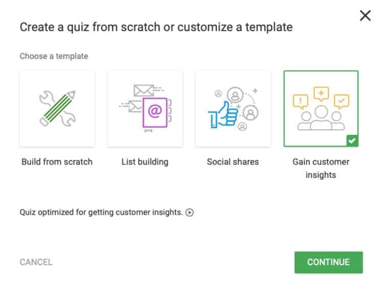 Thrive Quiz Builder Ziele