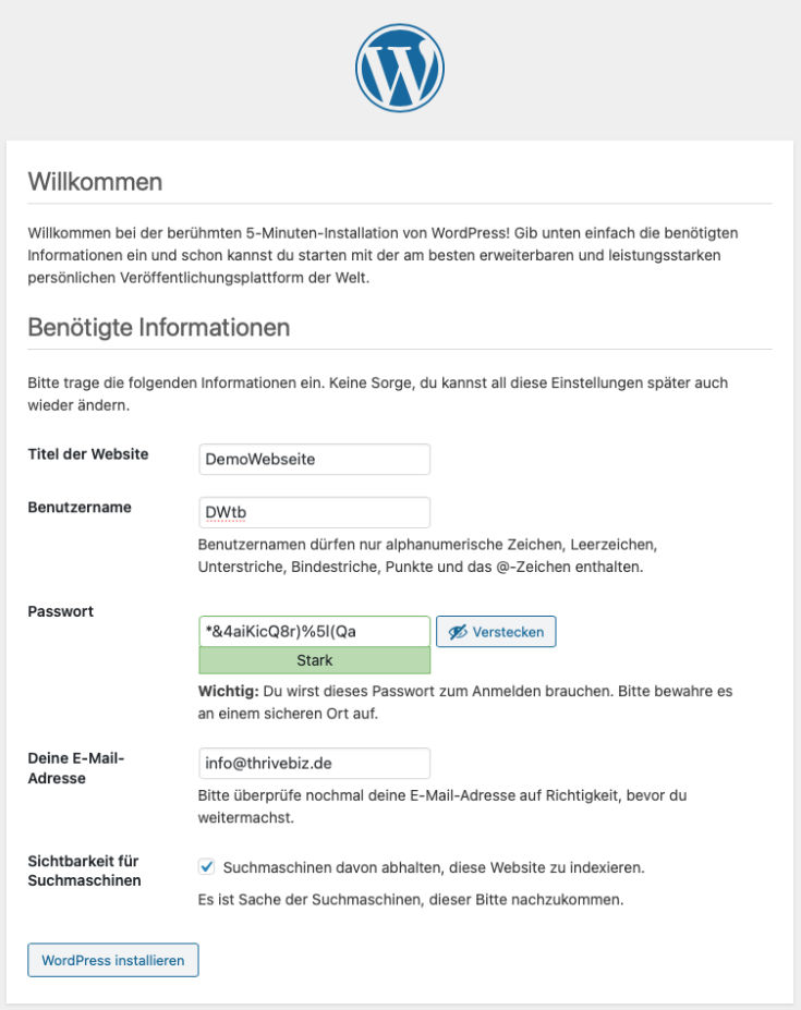 Demowebseite