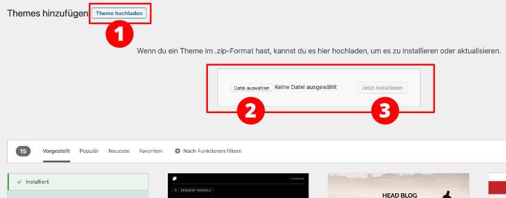 Premium WordPress Theme installlieren
