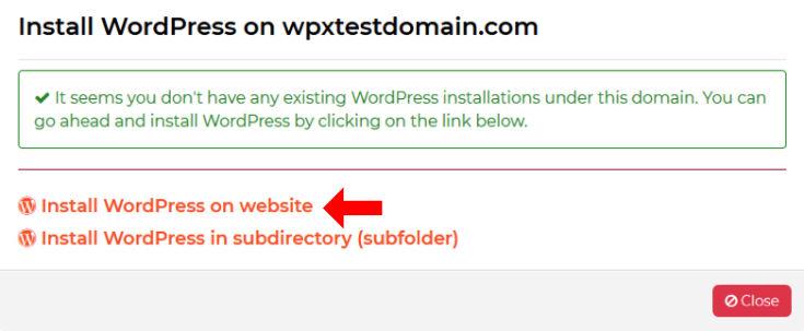 Wordpress auswählen
