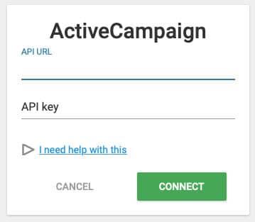 ACtive Campaign API