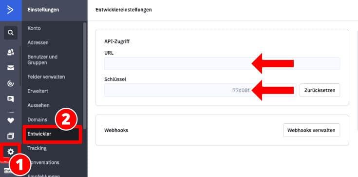 ActiveCampaign API Daten