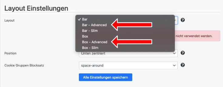 Borlabs Cookie Layout Advanced