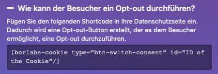 Opt-out
