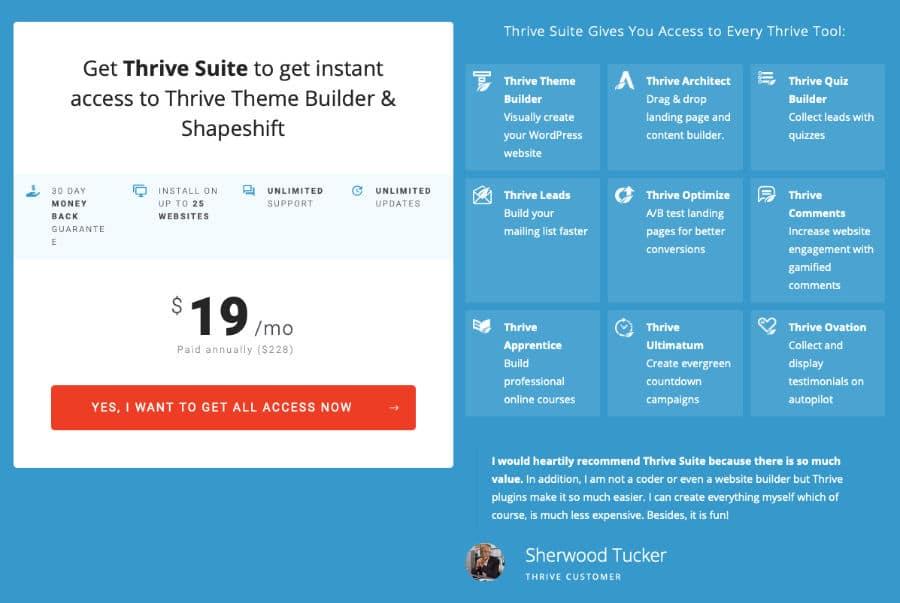 Thriive Suite Preis