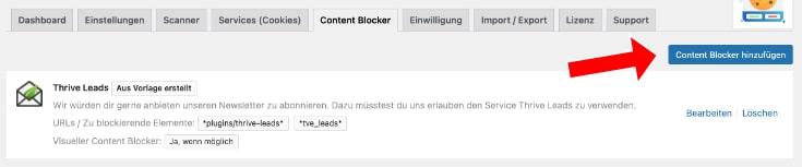 Content Blocker anlegen